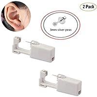 JINTOP Ear Piercing Gun, Desechable Safty Earring Piercing Tool Kit 1/100 Ear Stud Pack de 2