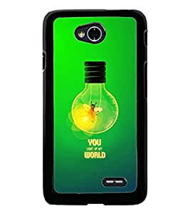 PrintDhaba Quote D-2863 Back Case Cover for LG L70 (Multi-Coloured)