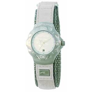 Kahuna K1M-1001L – Reloj analógico de mujer con correa textil blanca