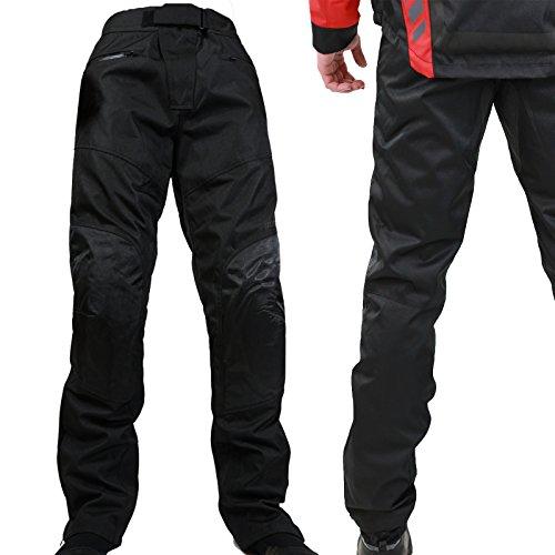 Motorradhose Herren -Easy Going- Sommer Winter Textilhose mit Protektoren Wasserdicht Leicht Stoff - schwarz - M