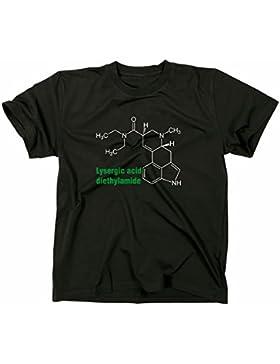 LSD 25 Molecola molecul T-Shirt, acid, lisergico, albert hofmann, tim leary