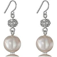 Fashion Orecchini pendenti con perla finta Fireball