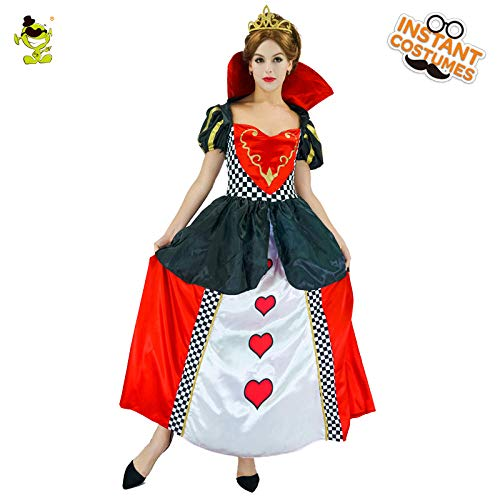 GAOGUAIG AA Königin der Herzen Damenmode Damen Halloween Kostüme Cosplay Party Kostüme SD (Color : Onecolor, Size : Onesize)