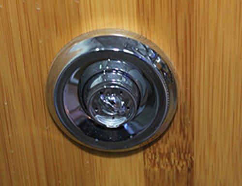 Dampfdusche Viertelkreis 100 x 100 cm, Bambus - 6