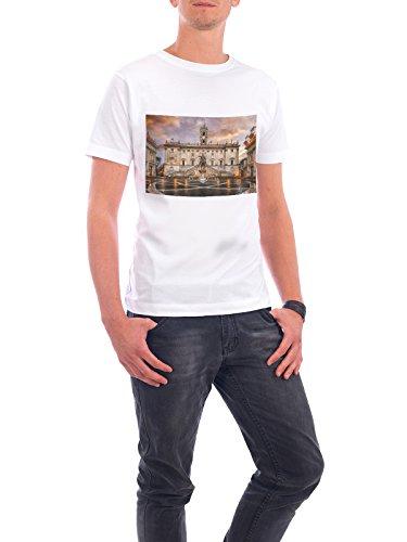 Design T-Shirt Men Continental Cotton Capitoline Hill in Roma white size 5XL - fair & eco-friendly shirt