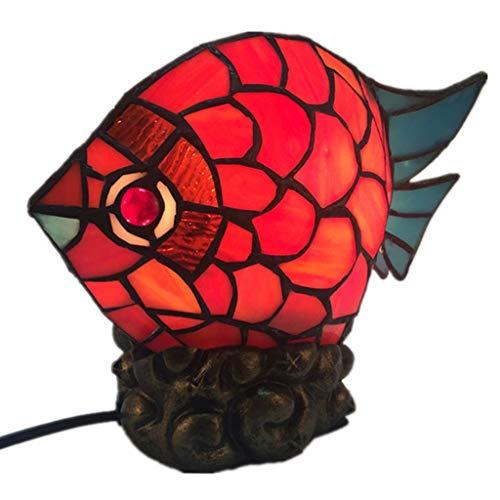 WZJ-TISCHLEUCHTE Europäische Hochzeitsgeschenk Lampen Schlafzimmer Bedside Eye-Caring Goldfish Form Nachtlicht dekorative Beleuchtung (Größe : 28cmx20cm)