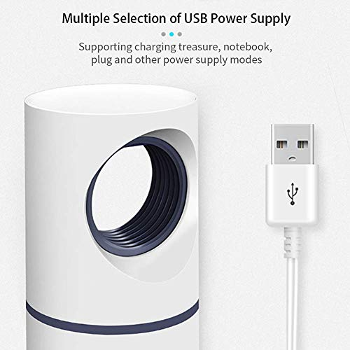 KATELUO USB Lampe Anti-moustiques,Lampe Piège Moustique,UV Tue Mouches Destructeur d' Insectes Electrique 5W,Pas Bruit,Pas Rayonnement.