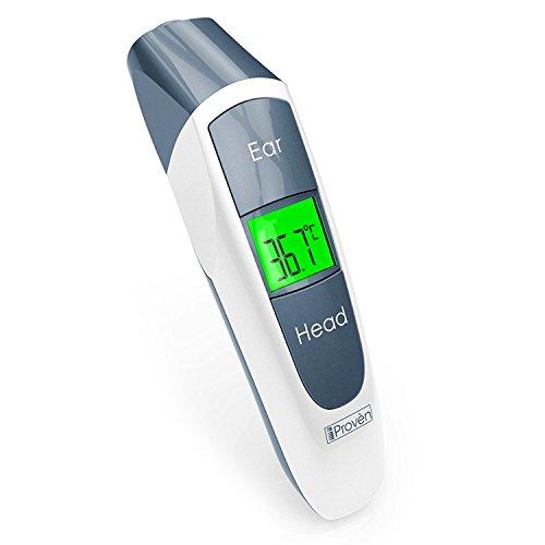 iProvèn Ohr Fieberthermometer mit Stirn Thermometer Funktion mit Fieber Indikator - CE zertifiziert - DMT-316