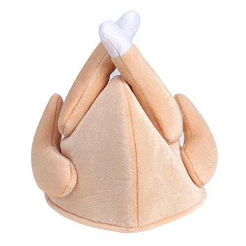 BESTOYARD Lustige Türkei Cap Hut Kopfbedeckung Kopfschmuck für Thanksgiving Day Weihnachten Kostüm Party Zubehör (Braun) (Hat Thanksgiving-die Türkei)