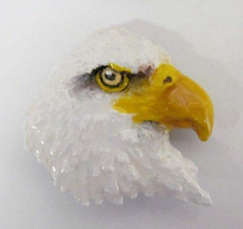 Painted, motivo: Aquila testabianca in volo, di testa, BP050PRM Refrigerator Magnet