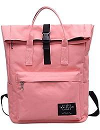 JUTOO Mochila de Nylon de Color sólido para Mujer Bolsa de Viaje Impermeable de Nylon Crossbody