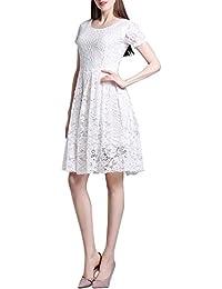 Corto Vestido De Novia Plisado De Mujer Encaje Vestidos De Noche