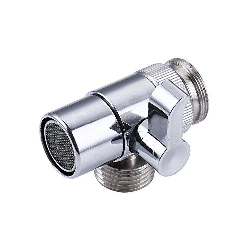 KES Messing 3-Wege Ventil Umstellventil Umschalter für Duschsystem M22 X M24, Chrom, PV10
