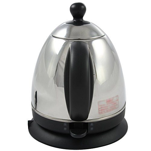 BCQ Electric Kettle Stainless Steel Black Double Anti-Hot 1000W 0.8L Separable Base Automatic Power off Insulation Home Travel Electric Kettles