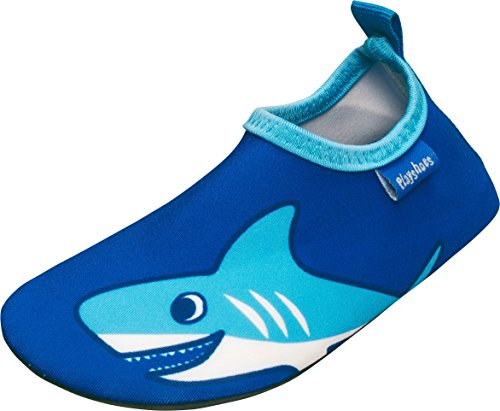 Playshoes Unisex-Kinder UV-Schutz Badeschuhe, Barfuß-Schuhe Hai Aqua Schuhe