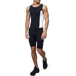 Bañador para Hombres Premium con Acolchado para Triatlón Mono Compresivo Duatlón Running Natación Ciclismo de Sundried® (Small)