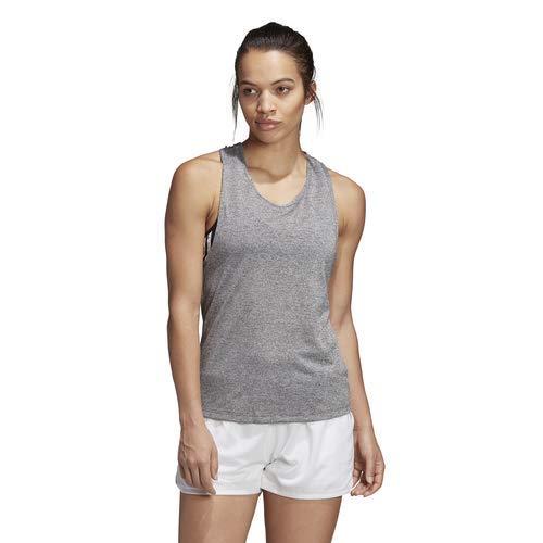 adidas Damen Club Tie Tennis Tank Top, Dark Grey Heather, Medium -