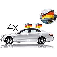 trendfinding 2er Set Auto Fu/ßball Spiegelflagge Spiegelfahne Spiegel Deutschland Deutschlandfahne Au/ßenspiegel Autospiegel Autospiegelflagge Fahne Flagge