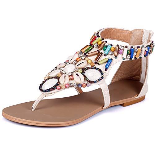 2019 Summer Sandals Women T-Strap Flip Flops Thong Sandals Designer Elastic Band Ladies Gladiator Sandal Shoes Zapatos Mujer Women Sandals beige 10