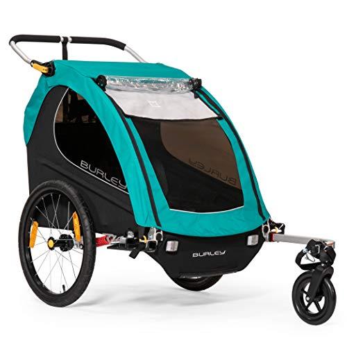 Burley Unisex Encore X Fahrradanhänger für Kinder, Türkis (Burley Encore Fahrradanhänger)