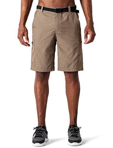NAVISKIN Herren Wandershorts UV-Schutz Bermuda Shorts Kurze Trekkinghose atmungsaktiv Knie