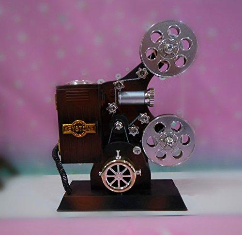 tagsgeschenk Musikalischer Mechanismus Klassischer Projektor Spieluhr Urlaub senden Freunde Kind Antike Stand Dekoration 16 * 20.5 * 8Cm (Wirren, Geburtstag Dekorationen)