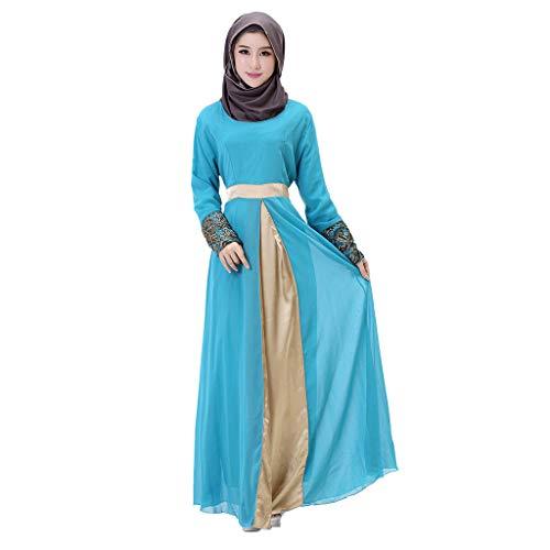 Muslimische Roben Kleider Langes Maxikleid Muslimische Kleid Patchwork Muslim Robe Kleider Islamische Kleidung Abaya Dubai Hochzeit Kostüm Elegante Muslimischen Kaftan (Latein Kostüm Muster)
