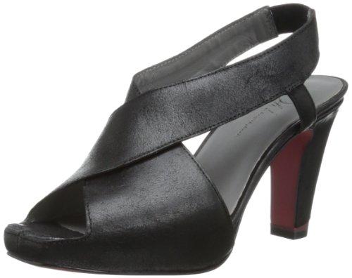 Oh! Pauletta Femmes Cuir Sandales Black