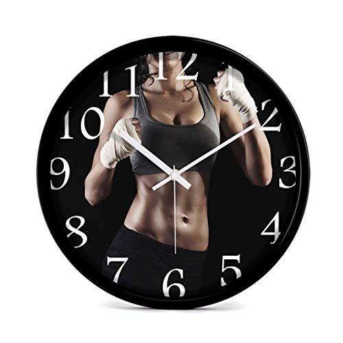 Everyday home Horloge murale balayage mouvement couvercle en verre, décoratif pour cuisine, salon, salle de bains, chambre à coucher, salon élégant horloges modernes créatives personnalité mur horloge