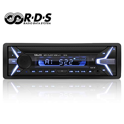 YOHOOLYO Autoradio Bluetooth Auto Stereo Audio Ricevitore In-Dash Radio RDS FM MP3 Player Aux SD Card USB con Telecomando