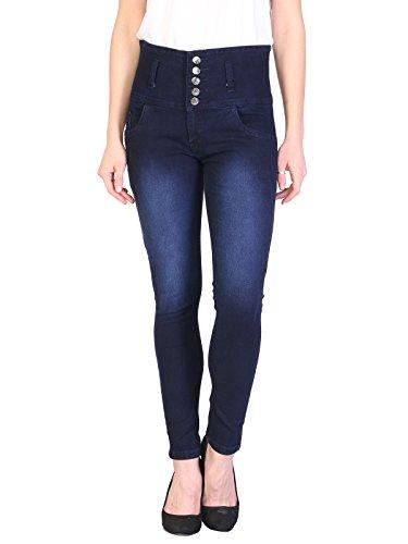 Manash Fashion Dark Blue Denim Solid Casual Jeans For Women-28