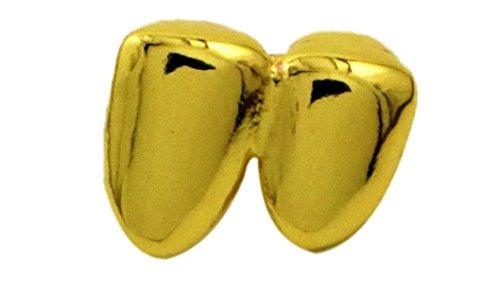Die Zähne Grill Für Custom (24K Gold überzogener doppelter Zahn Grillz + EXTRA)