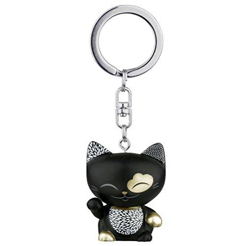 porte-cle-chat-porte-bonheur-mani-the-lucky-cat-noir-collier-dore