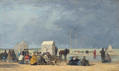 Bad Zeit, Gerahmt (Das Museum Outlet–Baden Zeit bei Deauville, 1865–A3Poster)
