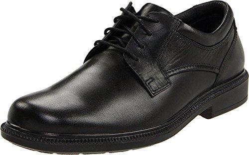 Hush Puppies Men's Strategy Oxford, Black Leather, 45 EU/10 UK