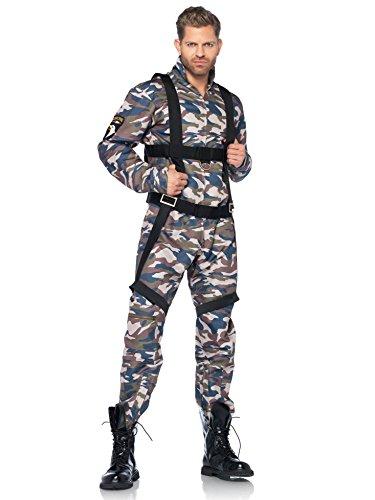 Fallschirmjäger Soldat Kostüm camouflage (Kostüm Zubehör Fallschirmjäger)