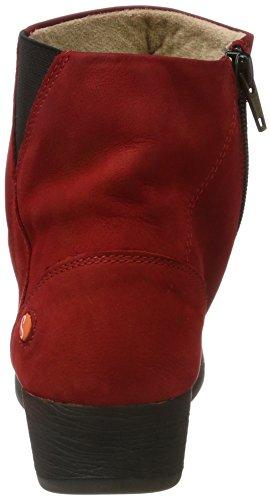 Softinos Damen Ayo411sof Nobuck Stiefel Rot (Red)