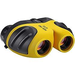 Juguetes Niños 5-12 Años, DMbaby 8X21 Compactos Prismáticos para Niños Amarillo DL03
