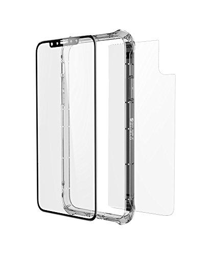"""Image of InvisibleSHIELD 200101025 360 Grad """"GLASS+ CONTOUR"""" Schutzhülle mit Displayschutzfolie für Apple iPhone X klar"""