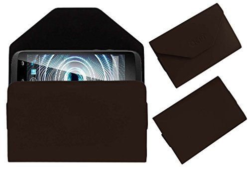 Acm Premium Pouch Case For Xolo Q700 Club Flip Flap Cover Holder Brown  available at amazon for Rs.179