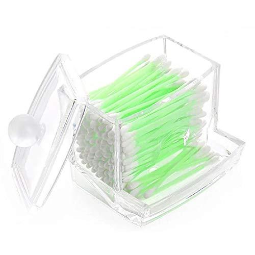 Scrox Wattestäbchen Aufbewahrungsbox Acryl Transparent Baumwolle Bud Aufbewahrungsbox Kleine Q-Tipps Zahnstocher Storage Organizer