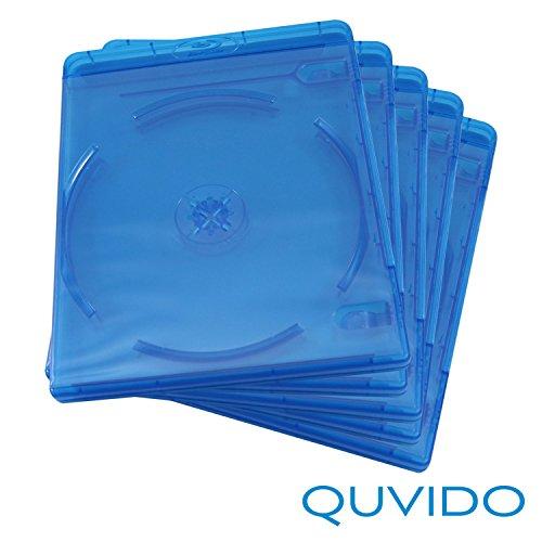 5 QUVIDO Blu-Ray Hüllen Blau Double / 2 Blu-Rays / 11mm