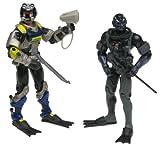 G. I. Joe de Wet Suit VS. Cobra Moray GI Joe VS. Cobra 2figuras de acción en el juego de Hasbro 2002