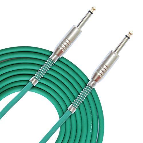 FLGW-24 Mono Jack Cable de Guitarra Audio Macho a Macho Cable Cable Caucho Cobre 6.35mm Enchufe Recto Para Instrumentos Eléctricos