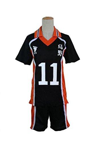 Sunkee Haikyuu!!Karasuno High School Volleyball Club Hinata Shouyou Cosplay (Bitte mailen Sie uns Ihr Gewicht und Höhe) (XXL: 170-180cm, (Kostüm Elf High)