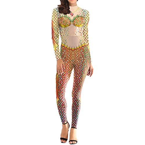 QQWE Frauen Meerjungfrau Kostüm Weihnachten Halloween Show Cosplay Weibliche Mode Bodysuit Spandex Overalls,A-L (Männliche Meerjungfrau Kostüm)