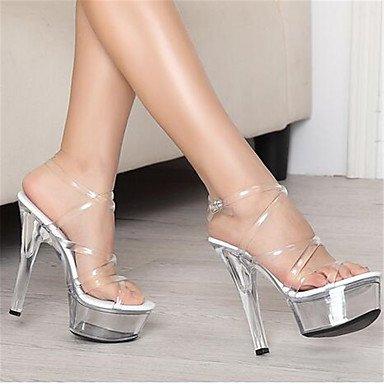 pwne Donna stivali inverno Mary Jane PU Casual Chunky Heel il colore dello schermo US5 / EU35 / UK3 / CN34 US5.5 / EU36 / UK3.5 / CN35