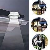 P12cheng Lampe solaire à énergie solaire, éclairage de pelouse, éclairage de jardin, éclairage d'extérieur à 3 LED haute lumière pour couloir, mur de toit, cour