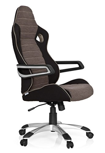 Top hjh OFFICE, 621849, Gaming chair, Home office chair, RACER PRO IV, silver, robust fabric, High back sport racing car swivel computer pc chair ,stylish armrests , modern and ergonomic design Reviews
