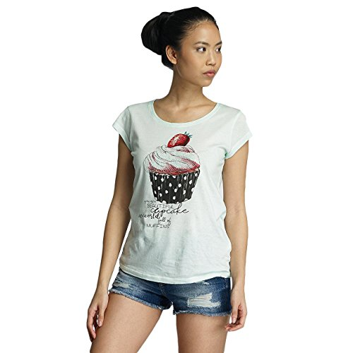 Fresh Made Damen Oberteile / T-Shirt Muffin Grün